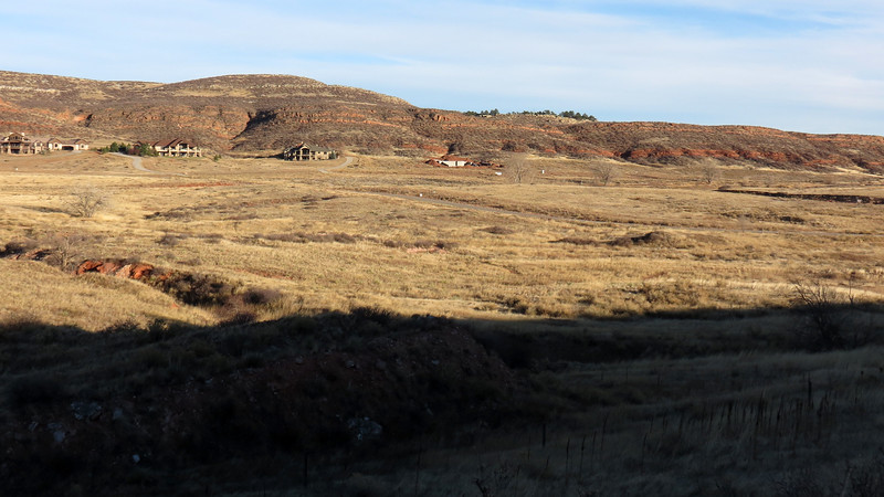 Homes along Hidden Valley Drive across from the Devil's Backbone Open Space.