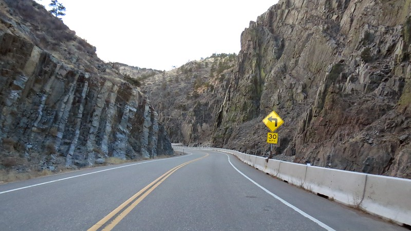 We started on our drive through Big Thompson Canyon.