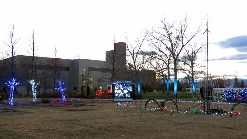 """Brewery Lights"" occupies part of a large side yard next to the Visitor's Center and Biergarten."