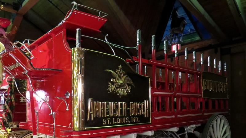 Budweiser beer wagons.