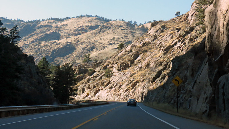 This drive reminded me of that through Big Thompson Canyon yesterday, only not nearly as intense or confining.