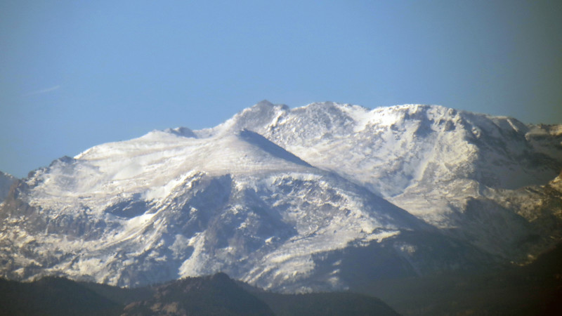 The photo above zooms in on what may be Mount Orton (11,724 feet) and North Ridge (11,740 feet).