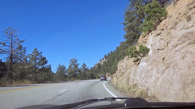 US Route 36 west heading toward Estes Park.