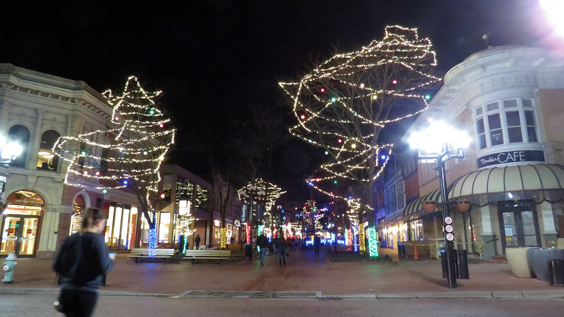 Pearl Street Mall at 13th Street, Boulder, Colorado.