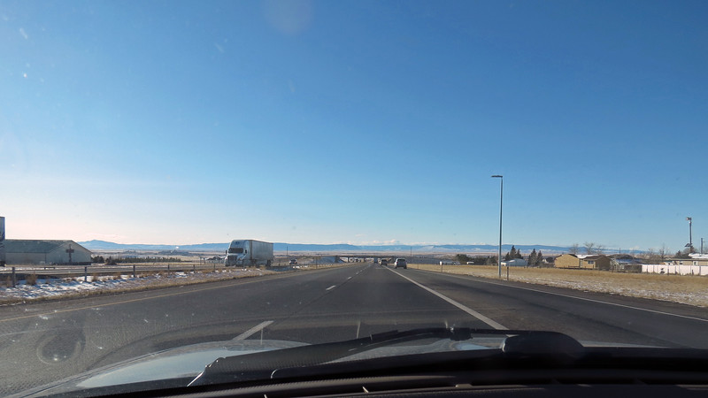 Approaching Laramie, Wyoming.