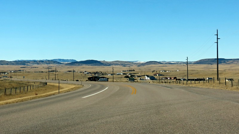Wyoming is the least-populated state in the US, (around 585,000 people), yet is the 10th largest by area (around 98,000 square miles).