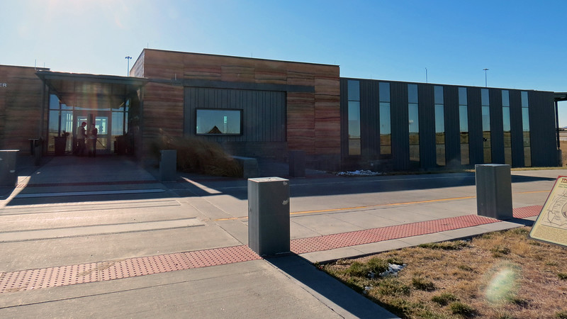 Cheyenne, Wyoming is only about one hour directly north of Greeley on US Route 85.  With traffic not really a problem on Thanksgiving day, we soon found ourselves at the Southeast Wyoming Welcome Center along I-25 outside of the city.