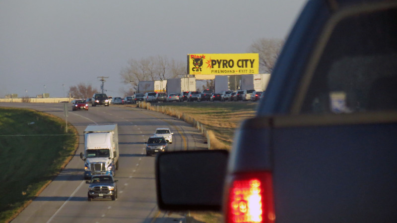Traffic on I-70 was moving along just fine until this point when it stopped.