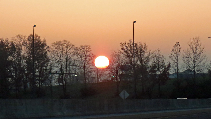 Sunrise near O'Fallon, Illinois.
