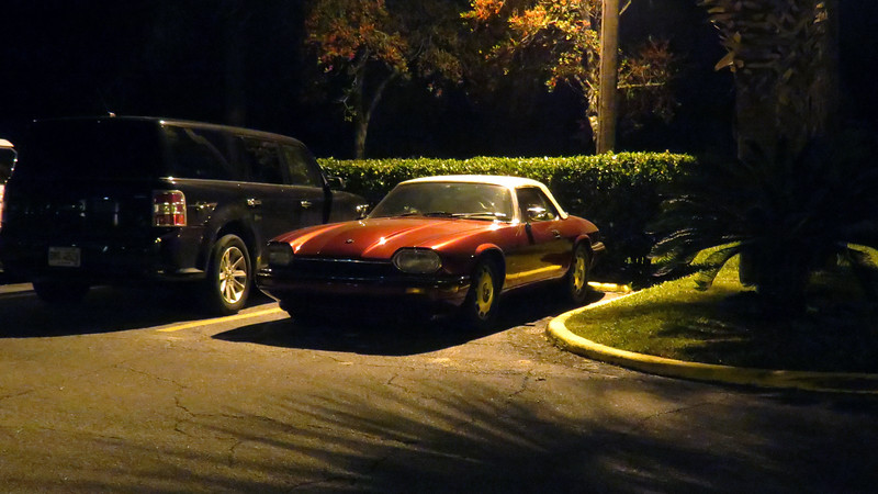 I also took a few more pics of the Jag in the parking lot for no specific reason.