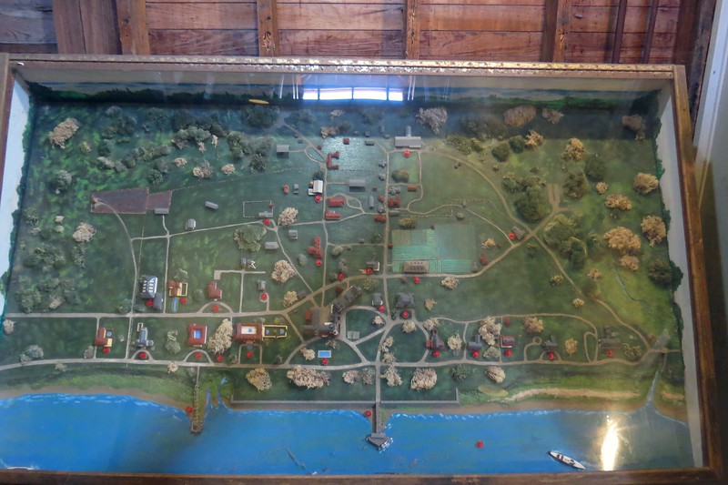 Above is a model of the island from the club era.  The club stables, (now the museum), would be at the top of the photo just to the right of center.