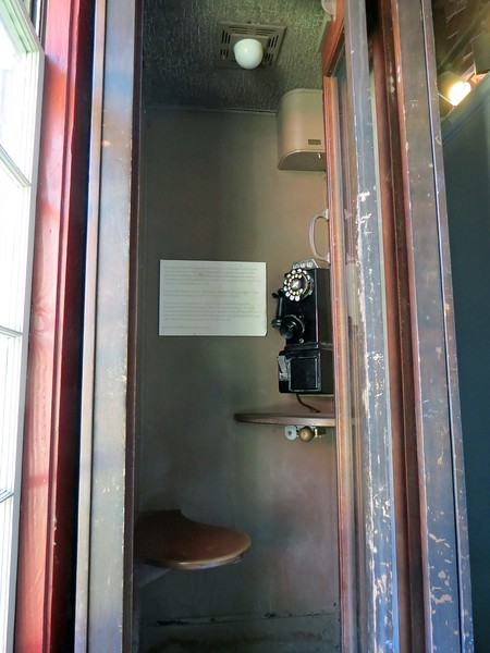 Two phone booths from the club era were on display.