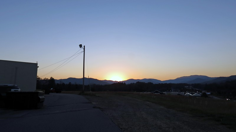 We headed onward to Harrah's and had a great buffet dinner.  On our way back to Athens, I stopped in Franklin, North Carolina to snap a few pics of the sunset over the mountains.