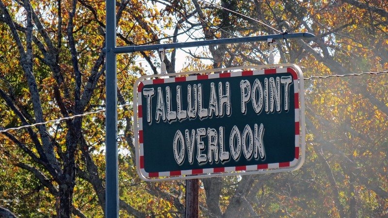 My friend Heather and I were on our way to Harrah's in Cherokee, North Carolina to enjoy the wonderful buffet and stopped at the Tallulah Point Overlook.