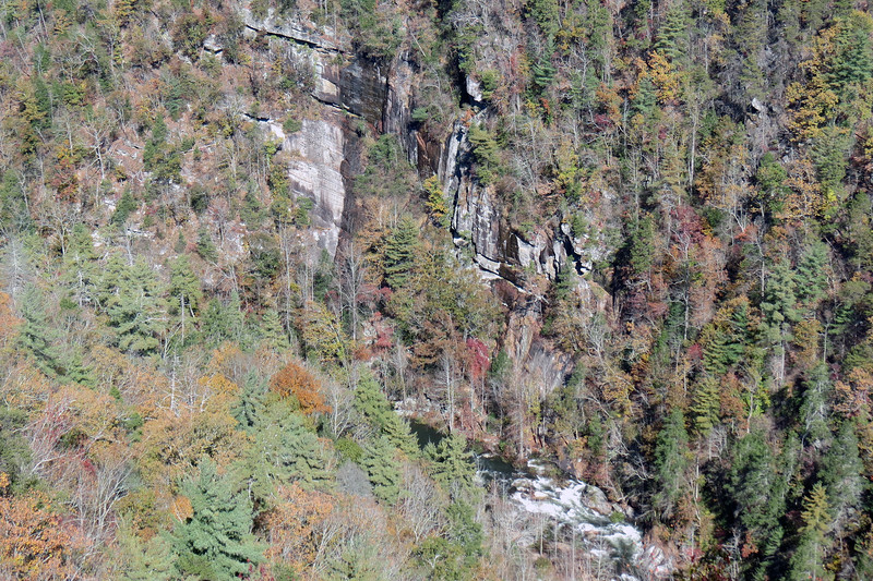 Water can be seen in the photos above and below flowing over the rocks.