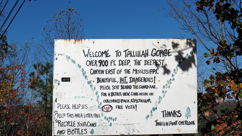 Information about the Tallulah Gorge.