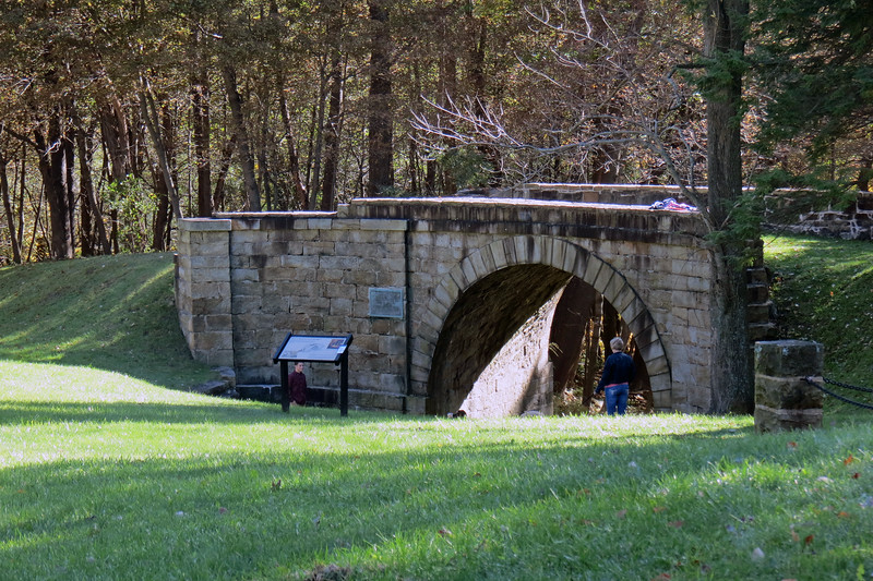 The main attraction of this location is the Skew Arch Bridge.