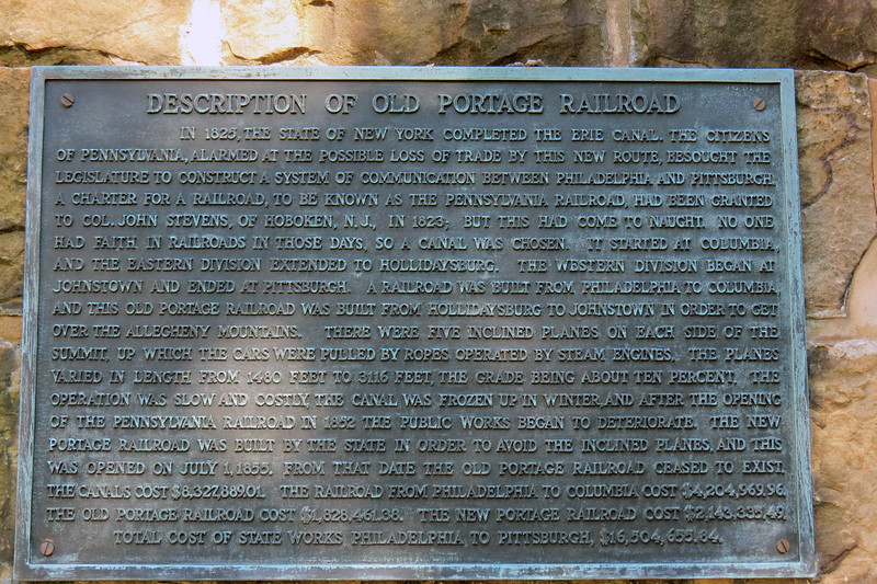 The monument features a description of the railroad.