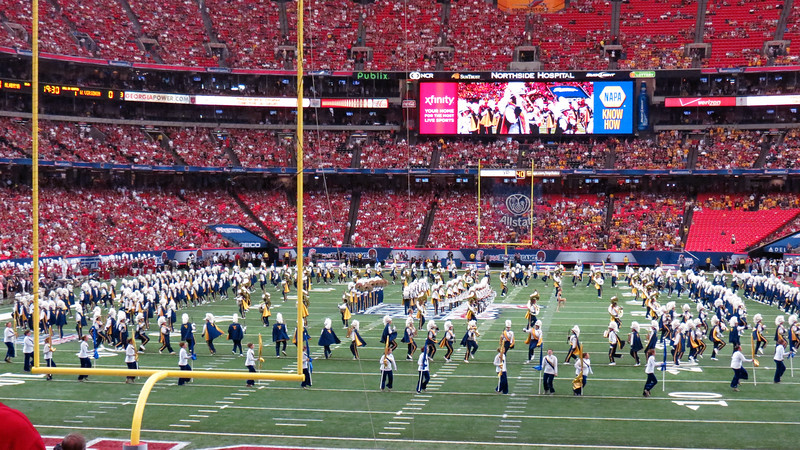 His last visit was in August 2014 when his alma mater West Virginia University was playing Alabama in the Chick-Fil-A College Football Kickoff Classic game at the Georgia Dome in Atlanta.