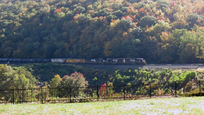 I saw four locomotives in the front of this eastbound train which lead me to believe that this one was much longer than the others.