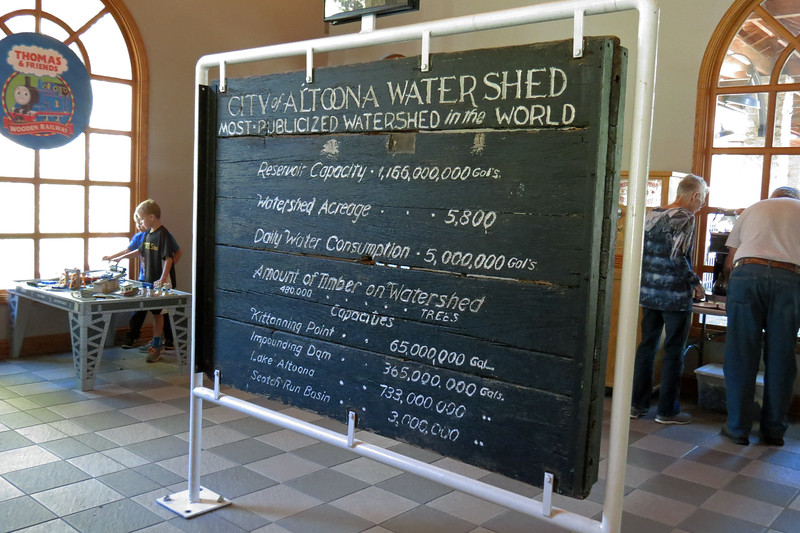 The other side describes the Altoona Watershed.
