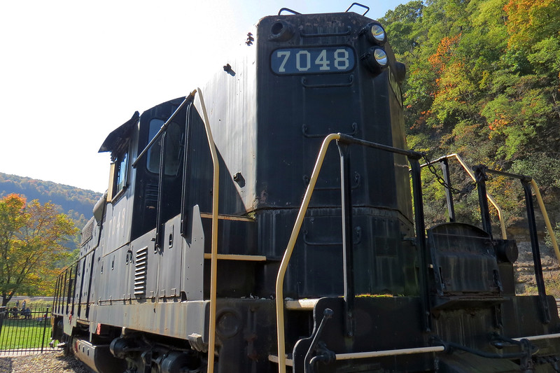 PRR #7048 on static display at the Horseshoe Curve.
