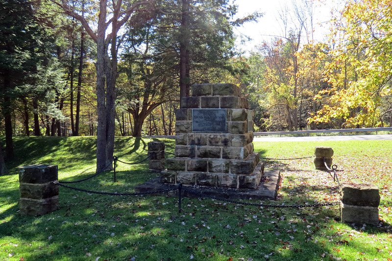The monument shown above and below was erected in 1934 to commemorate the 100th anniversary of the opening of the Allegheny Portage Railroad.