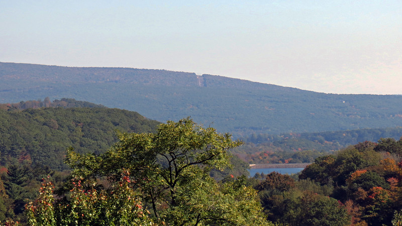 I believe the mountain seen off in the distance in the photo below is Brush Mountain.
