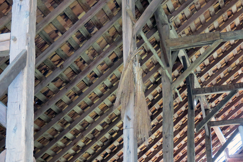 Looks like an old broom hanging from the rafters in the Enloe Barn.