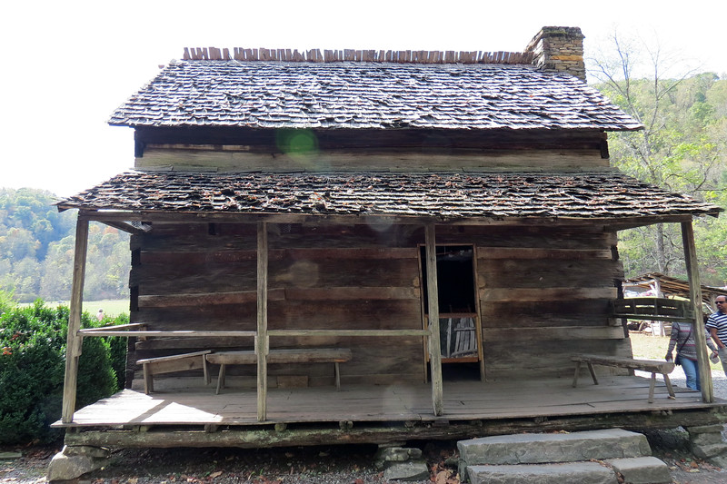 The John Davis Cabin dates from approx. 1900 and is named for its builder.  Davis and his sons built the cabin in the Deep Creek, North Carolina area.