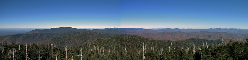 I stitched the two previous pics together for a great panorama looking northeast.
