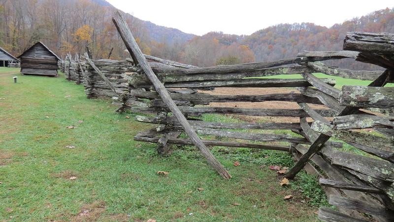 A typical 19th century farm fence.