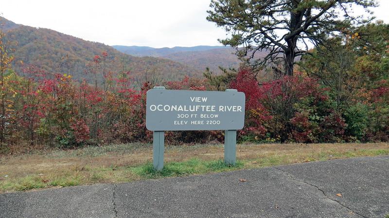 Oconoluftee River Overlook, mile post 468.4.