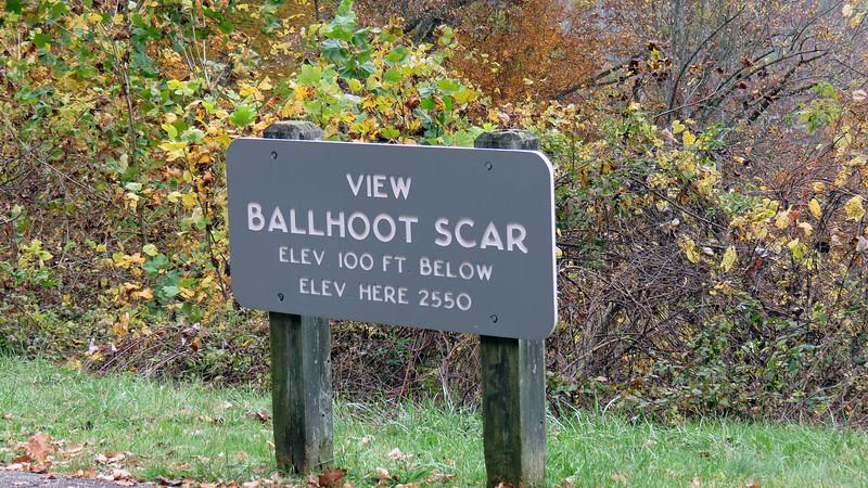 Ballhoot Scar Overlook, mile post 467.4.