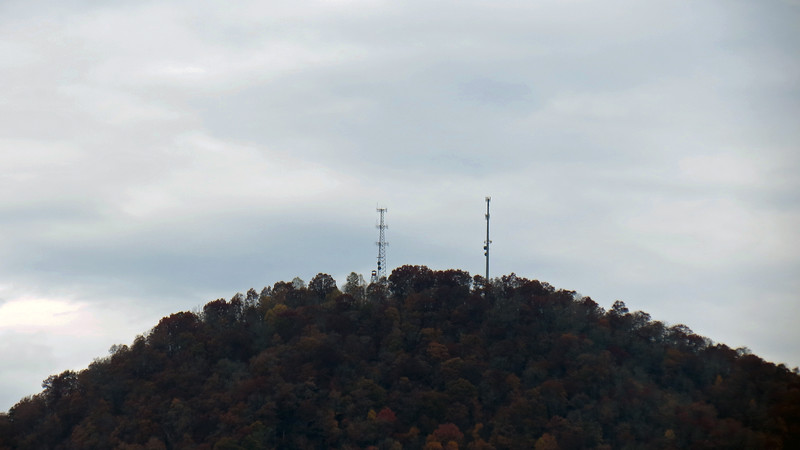 I knew my 35x optical zoom lens would benefit me greatly as it always does.  It allowed me to zoom on details off in the distance like the radio towers shown in the photo above.