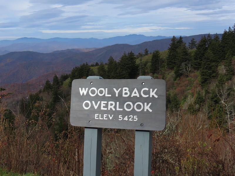 Woolyback Overlook, mile post 452.3.