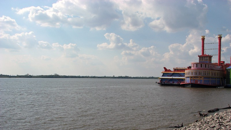 The Argosy Casino is located along the banks of the Mississippi River in Alton, Illinois.