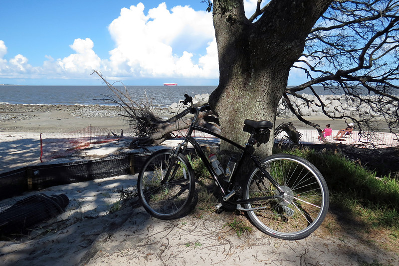 Once past the residential neighborhood, I arrived at a small parking area and trail that sit just beyond the Villas By The Sea Resort.  The trail leads to the southern end of Driftwood Beach.