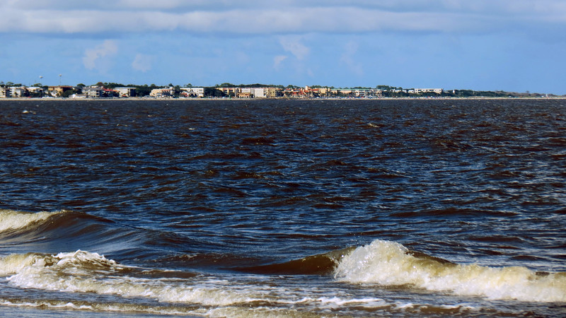 St. Simons Island to the north.
