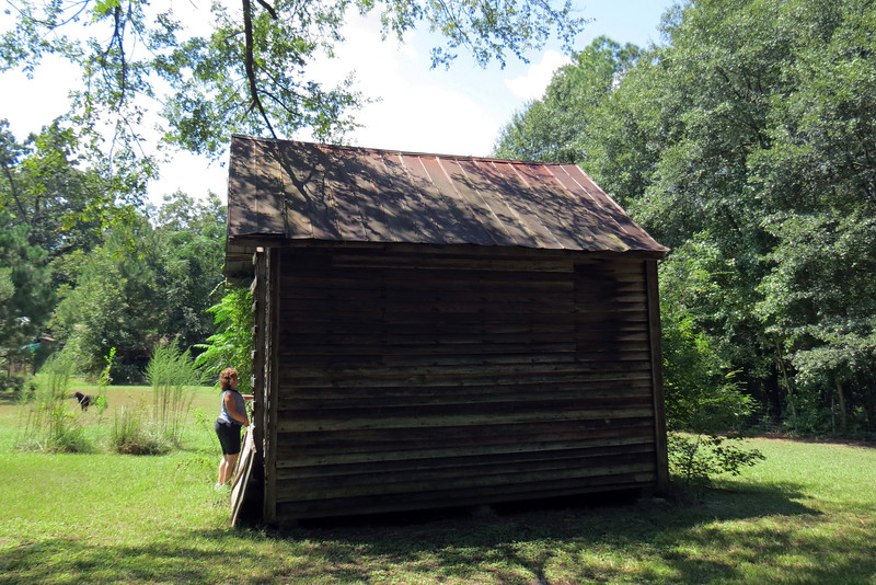 This is one of several outbuildings on the property that are thought to be original to the plantation.
