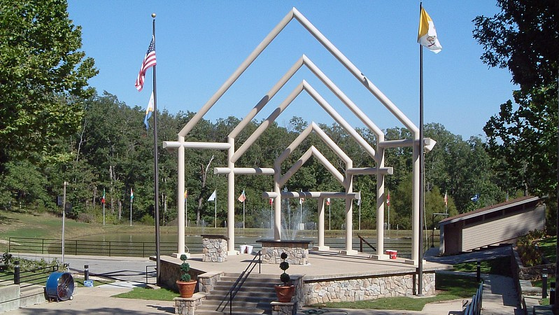 The outdoor Altar at the National Mothers Shrine.