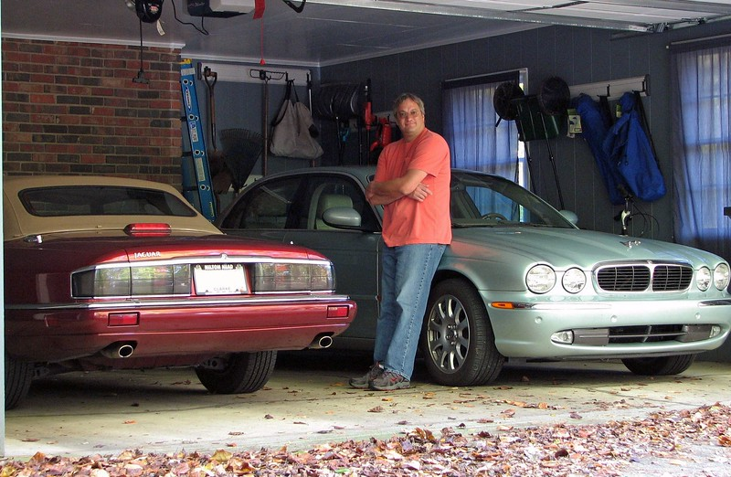 October 22, 2011:  The new XJS looks at home next to its '04 XJ8 roommate in the garage.