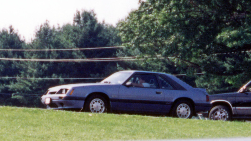 August 2, 1992:  I'm headed from the staging lanes up the small hill to the burnout box and starting line at the 1992 Supercar Showdown at Quaker City Dragway in Salem, Ohio, USA.  This car had the automatic transmission, but would still go mid-15s.