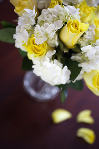 Yellow Roses and Hydrangea