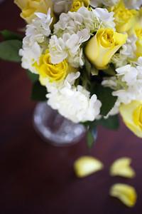 Yellow Roses and Hydrangea
