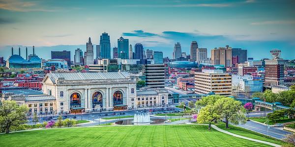 Kansas City Skyline Day