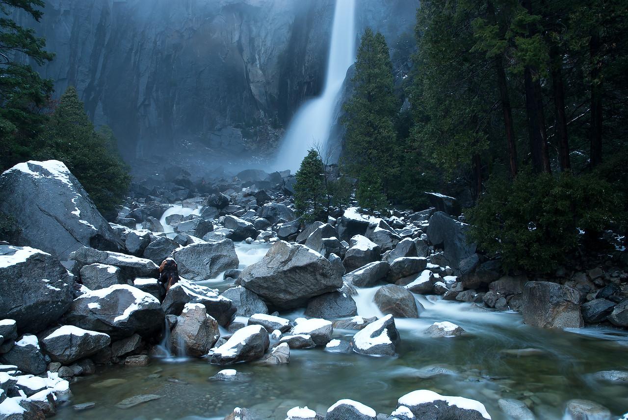 Lower Yosemite Falls Winter