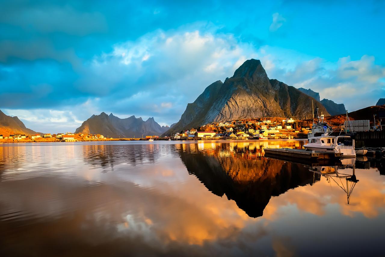 Sunrise in Reine, Norway