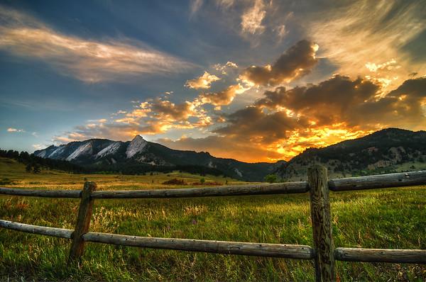 Flatirons at Sunset - Boulder, Colorado.tif