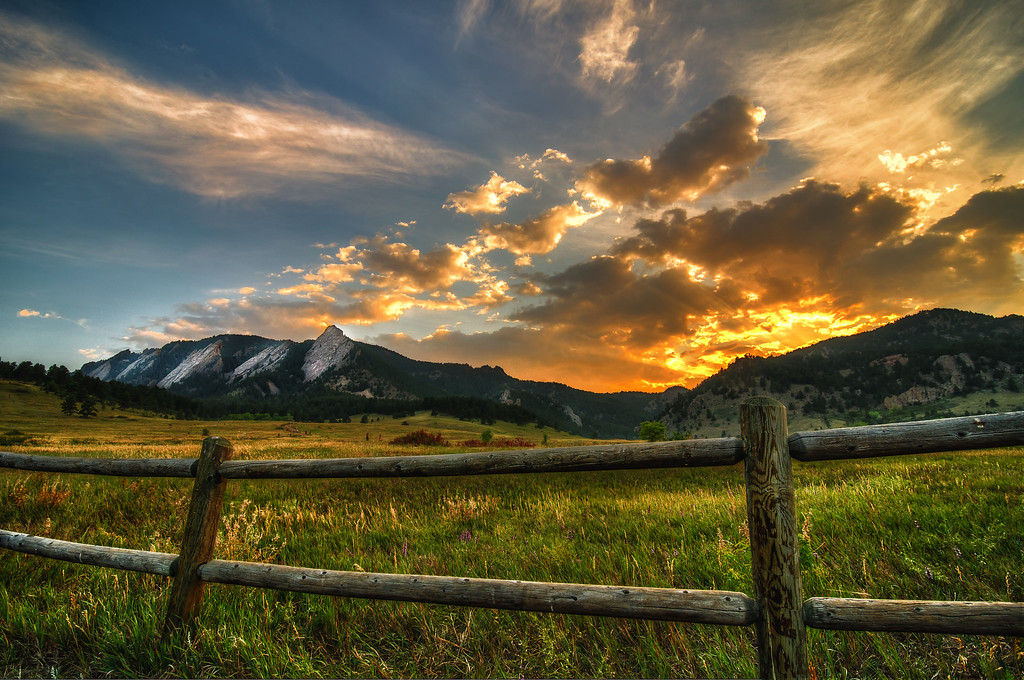 Flatirons at Sunset - Boulder, Colorado.tif
